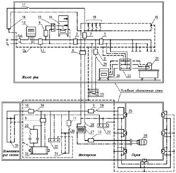 примеры схем электрических цепей