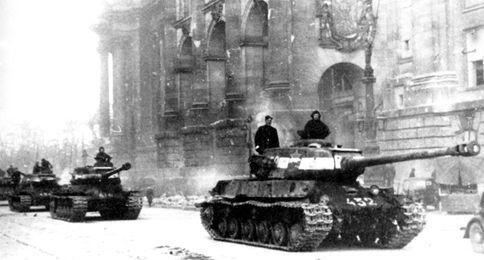 Бригада на улицах берлина май 1945 года